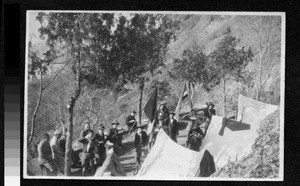 Boy scouts camping, China, ca.1917