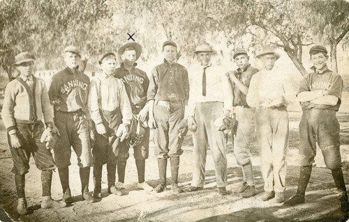 "The Banning High School """"Baseball Nine"""" of 1911"