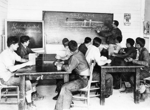 Sherman Institute students in classroom