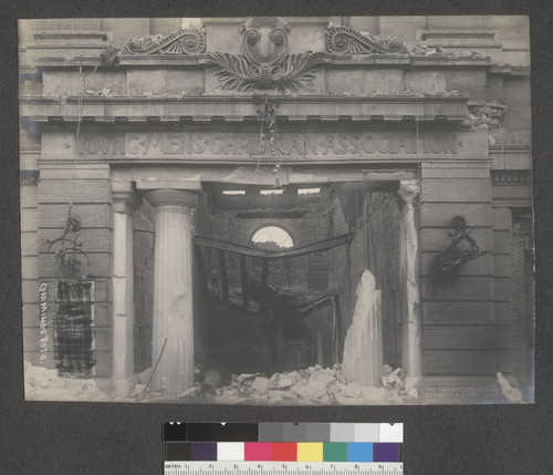 [Young Men's Christian Association (Y.M.C.A.) building façade. Ellis and Mason Sts.]