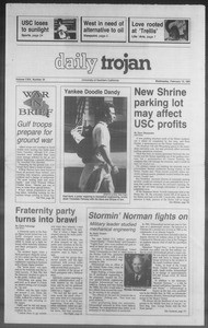 Daily Trojan, Vol. 114, No. 24, February 13, 1991