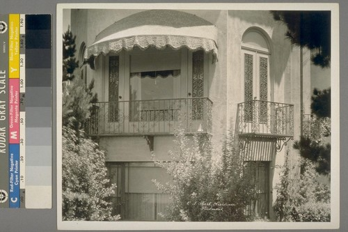 C.L. Best Residence. Piedmont. [Exterior, with iron ornamentation.]
