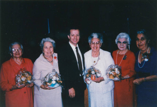 Armenian American women with pastor