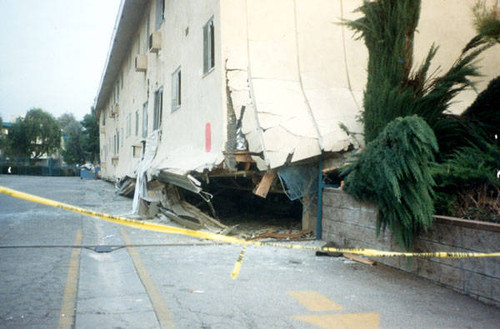 Earthquake damage, Sherman Oaks, Calif. January 1994