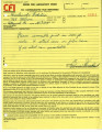Orders for laboratory work [to] Bruce Herschensohn, Hollywood, Calif. [from] Consolidated Film Industries, Hollywood, Calif. - May 18 -December 30, 1965