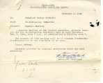 Memo from Co-ordinating Committee to Chief of Police Schmidt [Willard E. Schmidt], February 3, 1944