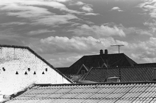 Tiled roofs, Bogotá, Colombia, 1976