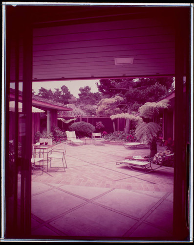 Jacobs, J. J., residence. Outdoor living space