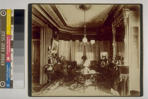[Interior of Isaiah West Taber residence. Photograph by Isaiah West Taber.]
