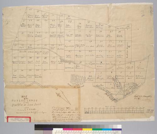 Calisphere Map of the public lands of the Pueblo de San Jos