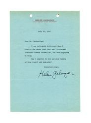 Letter from Helen Gahagan to Isidore B. Dockweiler, July 20, 1942