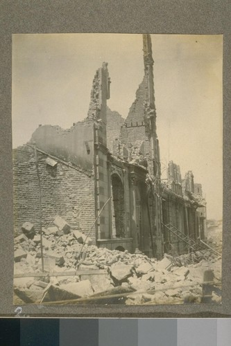 [Earthquake damage, near Portsmouth Plaza.]