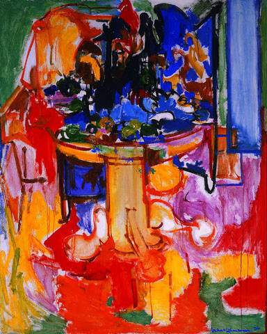 Table with Fruit and Coffeepot