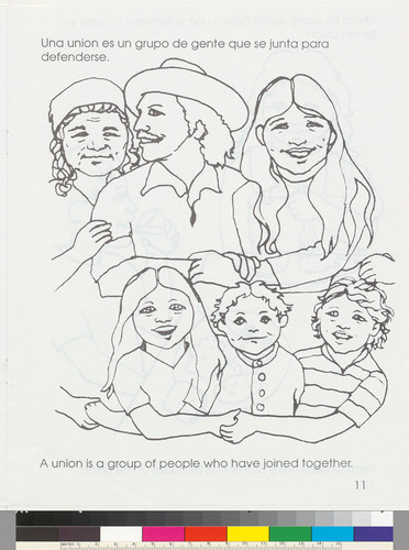 A United Farm Workers Coloring Book Libro Para Colorear De Los Trabajadores Campesinos Unidos