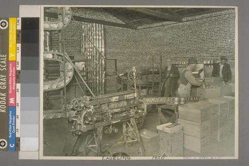 Labeling, 1920
