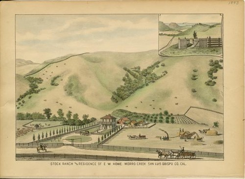 Howe, E. W., Stock Ranch and Residence, Morro Creek, San Luis Obispo County