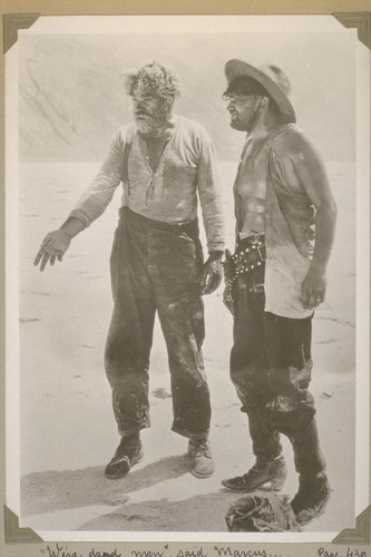 """We're dead now,"" said Marcus... Page 439. [Gibson Gowland and Jean Hersholt.]"