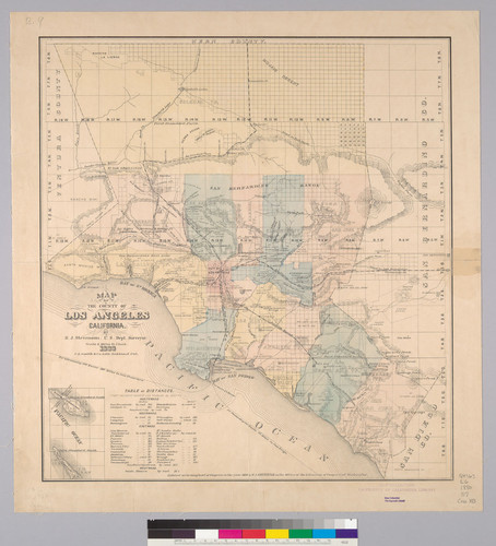 Calisphere: Map of the County of Los Angeles : California / by H.J. ...