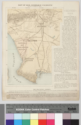 Map of Los Angeles and vicinty : featuring Redondo Beach