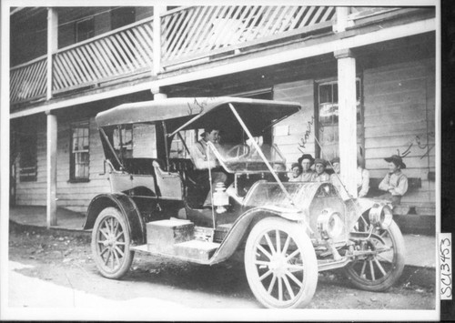 Automobile at Sawyers Bar