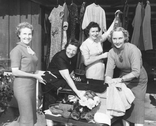 Foursquare women collect for rummage sale