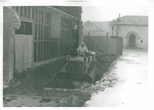 First Day Excavation - Note That Footing Had Not Been Removed - City Jail Construction