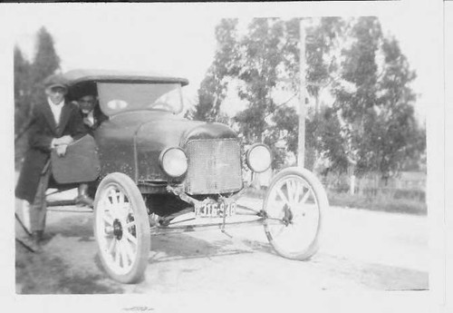 Two men and a 1921 car