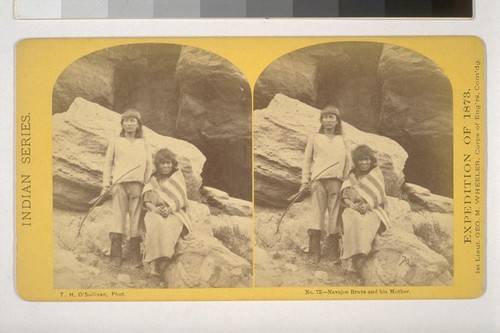 Navajoe Brave and his Mother