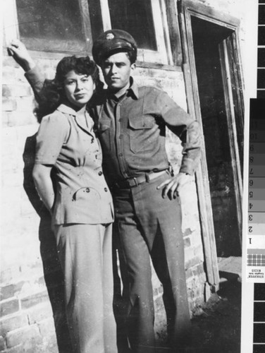 Photograph of Beatrice & George Valdez at Camp Beale
