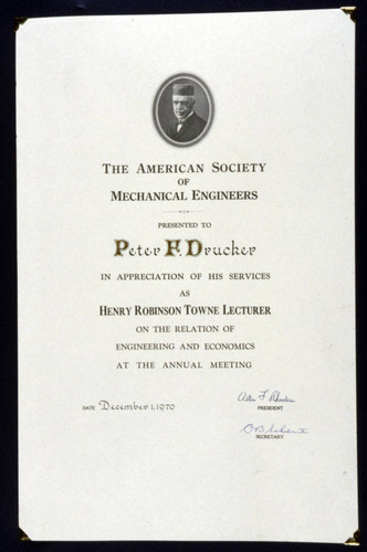American Society of Mechanical Engineers recognition
