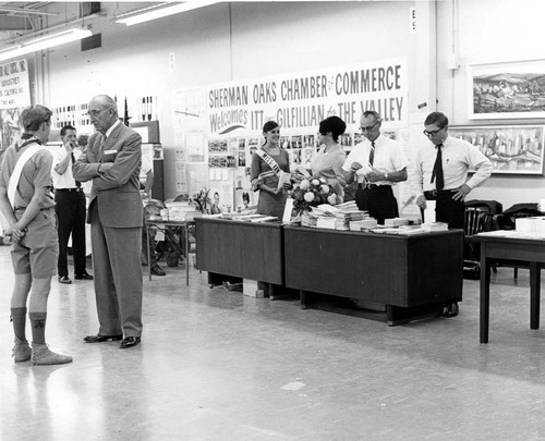 Welcoming party for ITT and Gilfillian, circa 1968--Congressman James C. Corman