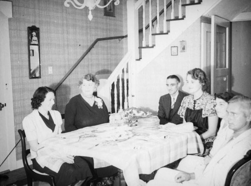 Dinner party at Longview Avenue