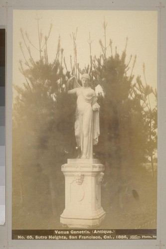 No. 65 - Venus Genetrix. (Antique.) - Sutro Heights, San Francisco, Cal., 1886