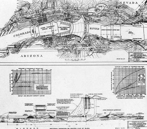 Calisphere Drawings Of Plans For Hoover Dam