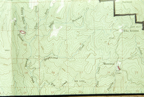 Calisphere Map Of Section Of Butte County Including Happy Hollow - Butte county map