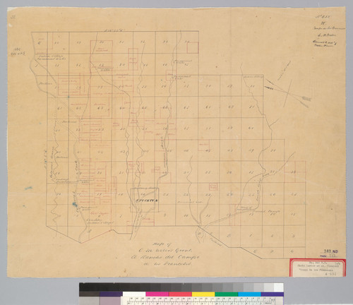 Map of C.M. Weber's grant, El Rancho del Campo de los Franceses : [San Joaquin Co., Calif.]