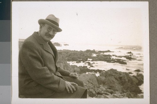 Robert [Harry Lowie] taken on one of the points of land over which the 17-mile drive passes