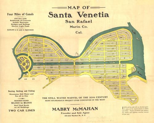 Calisphere: Map of proposed Santa Venetia development, San ... on kentfield california map, california california map, el sur california map, alamitos california map, arroyo seco california map, cabo san lucas baja california map, victorville california map, oklahoma city california map, los robles california map, pollock pines california map, north lake tahoe california map, hopland california map, santa clara california map, sonoma coast california map, san bernardo california map, santa rosa california map, san pablo california map, city of san francisco california map, vallejo california map, concord california map,