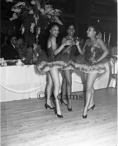 Women at event, Los Angeles, 1955