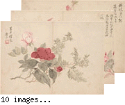 Album of Ten Leaves of Flower and Landscapes