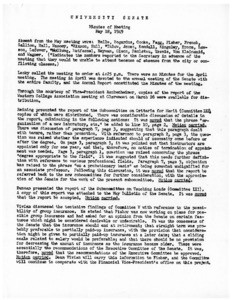 USC Faculty Senate minutes, 1949-05-18