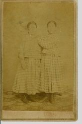 "Minerva ""Nerva"" Ann Sullivan (m. Newell) and her sister Nancy Eleanor Sullivan (m. Crabtree), daughters of Isaac W. and Polly Sullivan early pioneers of Green Valley (Graton), circa 1860-1870s"