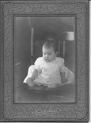 Unidentified child in a Victorian baby dress