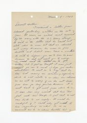 Letter from Jeanne Dockweiler to Isidore B. Dockweiler, March 8, 1942