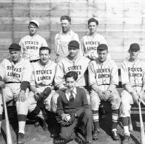Group view of team of baseball players