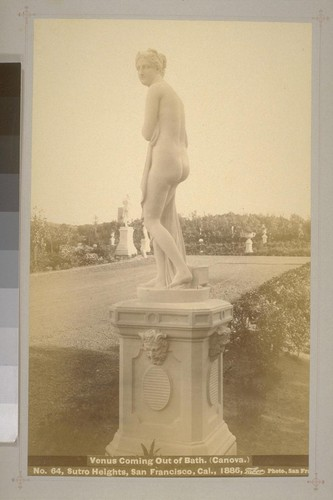 No. 64 - Venus Coming Out of Bath. (Canova.) - Sutro Heights, San Francisco, Cal., 1886