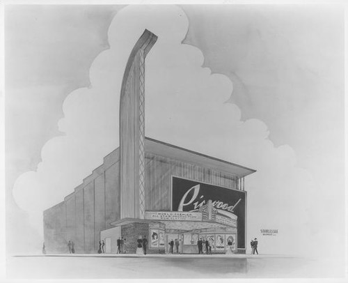 Picwood Theatre, Los Angeles, rendering