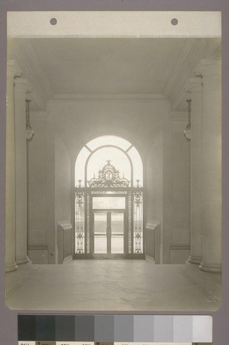 [Doorway from interior. East entrance.]