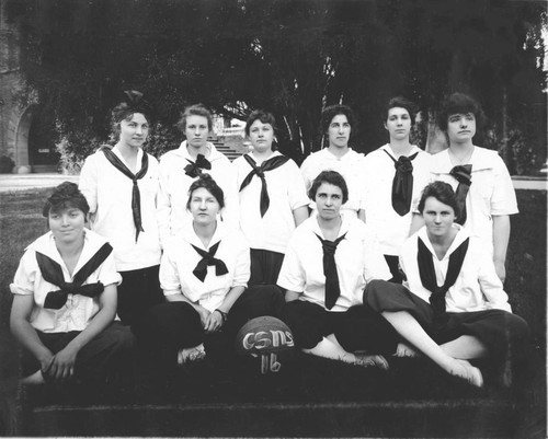 Chico State Normal School girl's basketball team of 1916