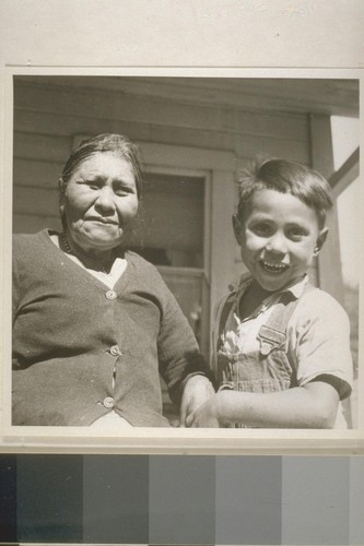 Mrs. Mary James and grandson Ed Lopez, Jr. Smith River, Calif. June 18, 1938
